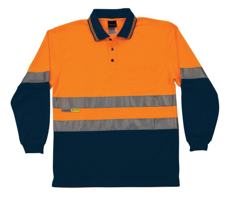 JB's Hi Vis Long Sleeve (D+N) Trad Polo