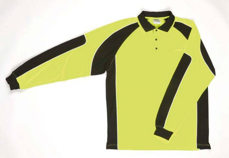 Hi Vis Long Sleeve Arm Panel Polo
