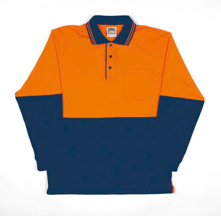 JB's Hi Vis Long Sleeve Cotton Polo