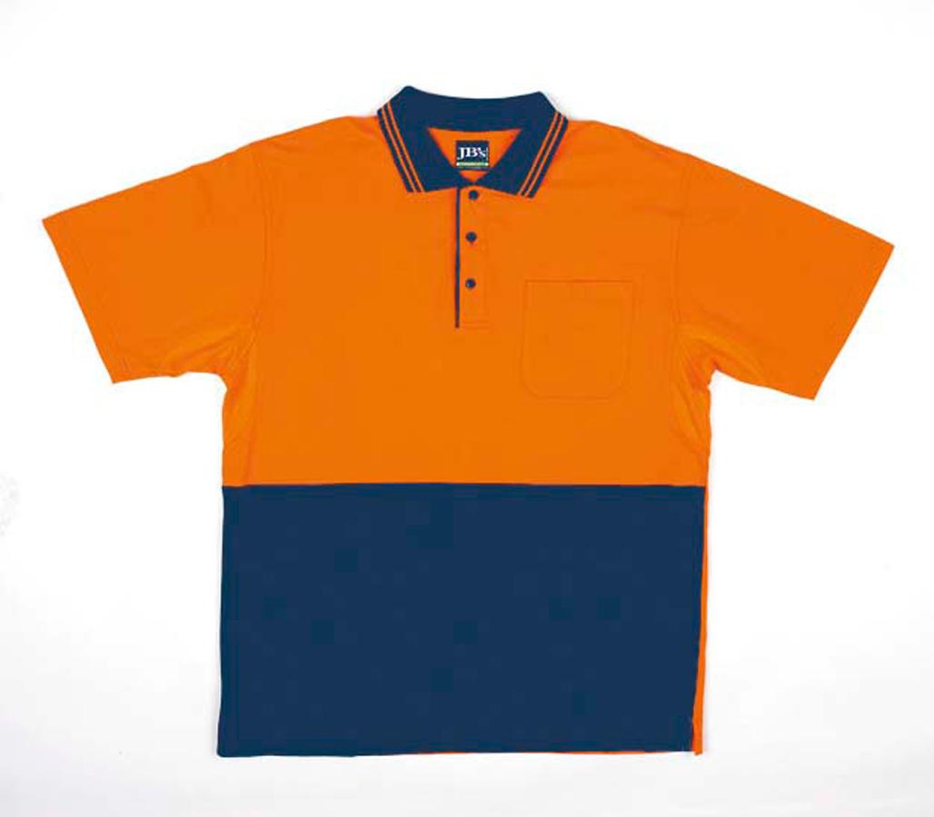 JB's Hi Vis Short Sleeve Cotton Polo