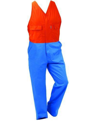 Turu Contrast 300gsm 100% Cotton Comfort Overall Elastic Shoulder Strap - Domed
