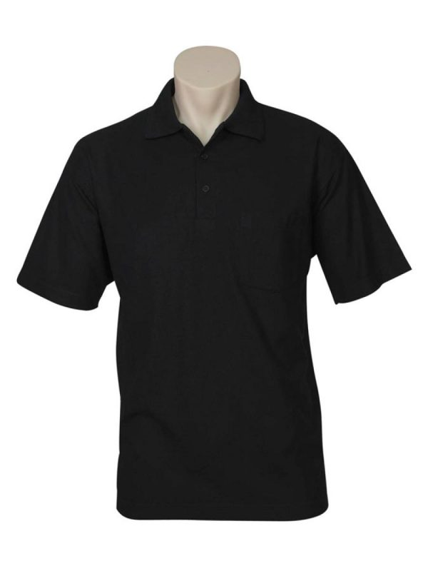 Adults Unisex Pique Knit Polo with Pocket Sewn On