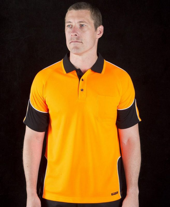 Hi Vis 4602.1 S/S Arm Panel Polo