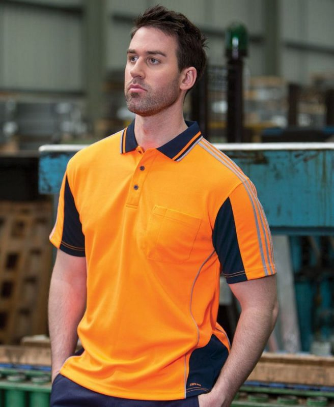 Hi Vis 4602.1 S/S Arm Tape Polo