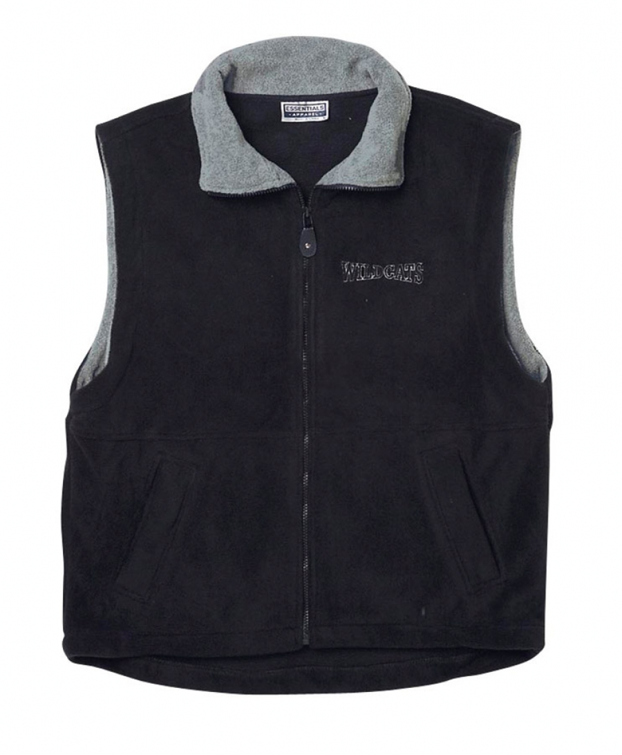 Contrast Polar Fleece Vest