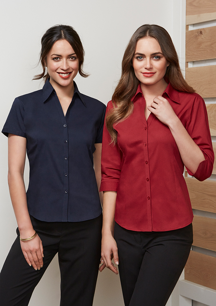 Ladies ¾ Sleeve Stretch Metro Shirt