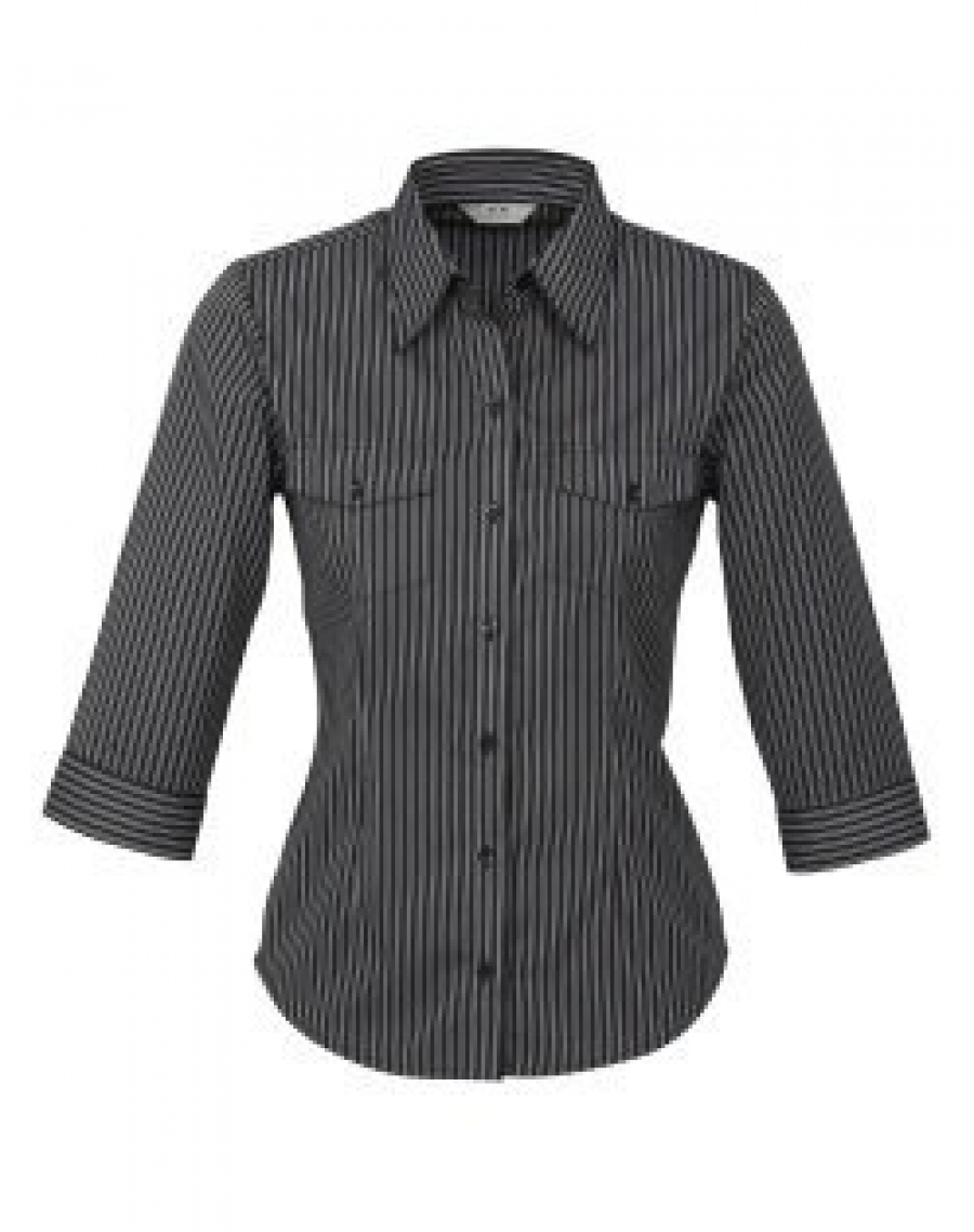 Ladies Cuban Shirt - ¾ Sleeve