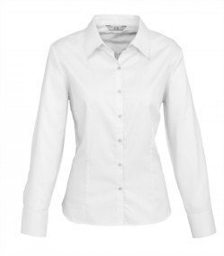 Ladies Luxe Long Sleeve Premium Cotton Shirt