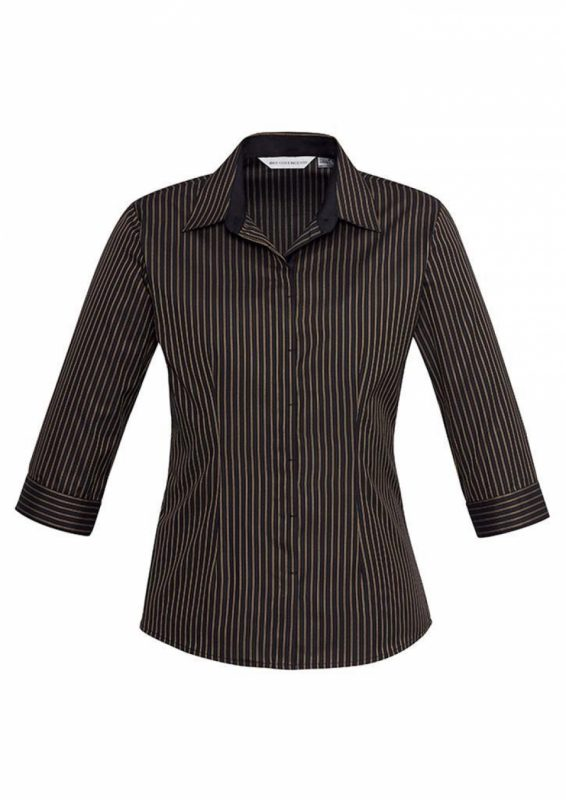 Ladies Reno Stripe ¾ Sleeve Shirt