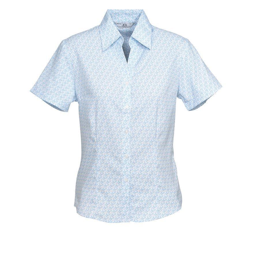 ladies short sleeve printed oasis shirt southern monograms