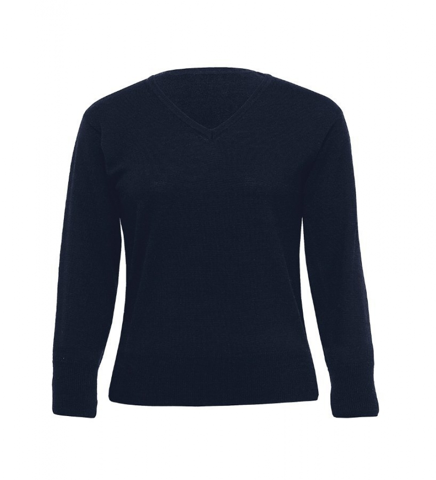 Merino Detailed Vee Pullover - Womens