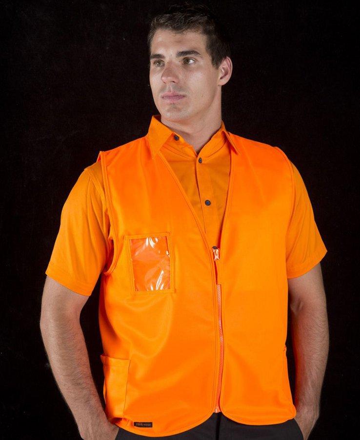 Hi Vis Zip Safety Vest