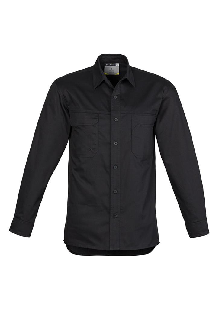 Syzmic Light Weight Tradie Shirt Long Sleeve