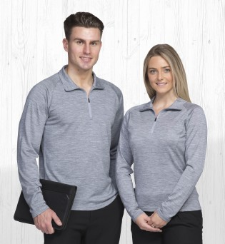 Merino Zip mens and ladies Pullover