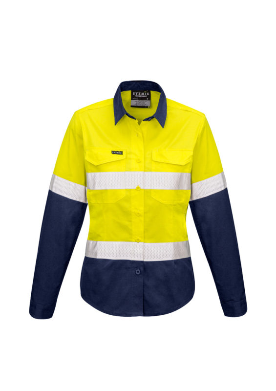 Womens Rugged Cooling Taped Day/Night Hi-vis Spliced Shirt