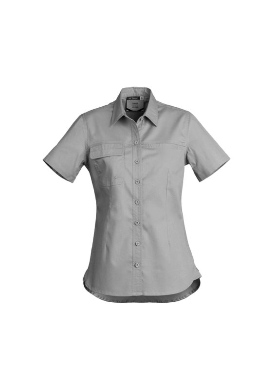 Womens Lightweight Tradie Work Shirt - Short Sleeve