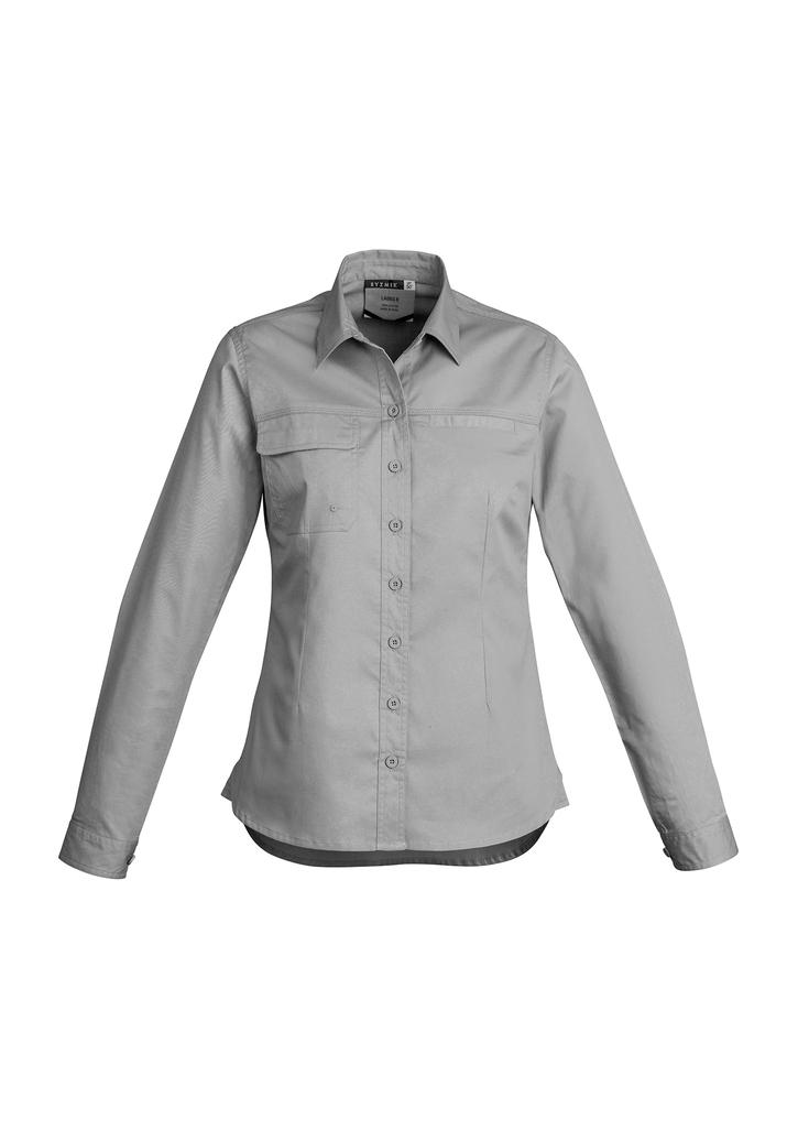 Womens Lightweight Tradie Work Shirt - Long Sleeve
