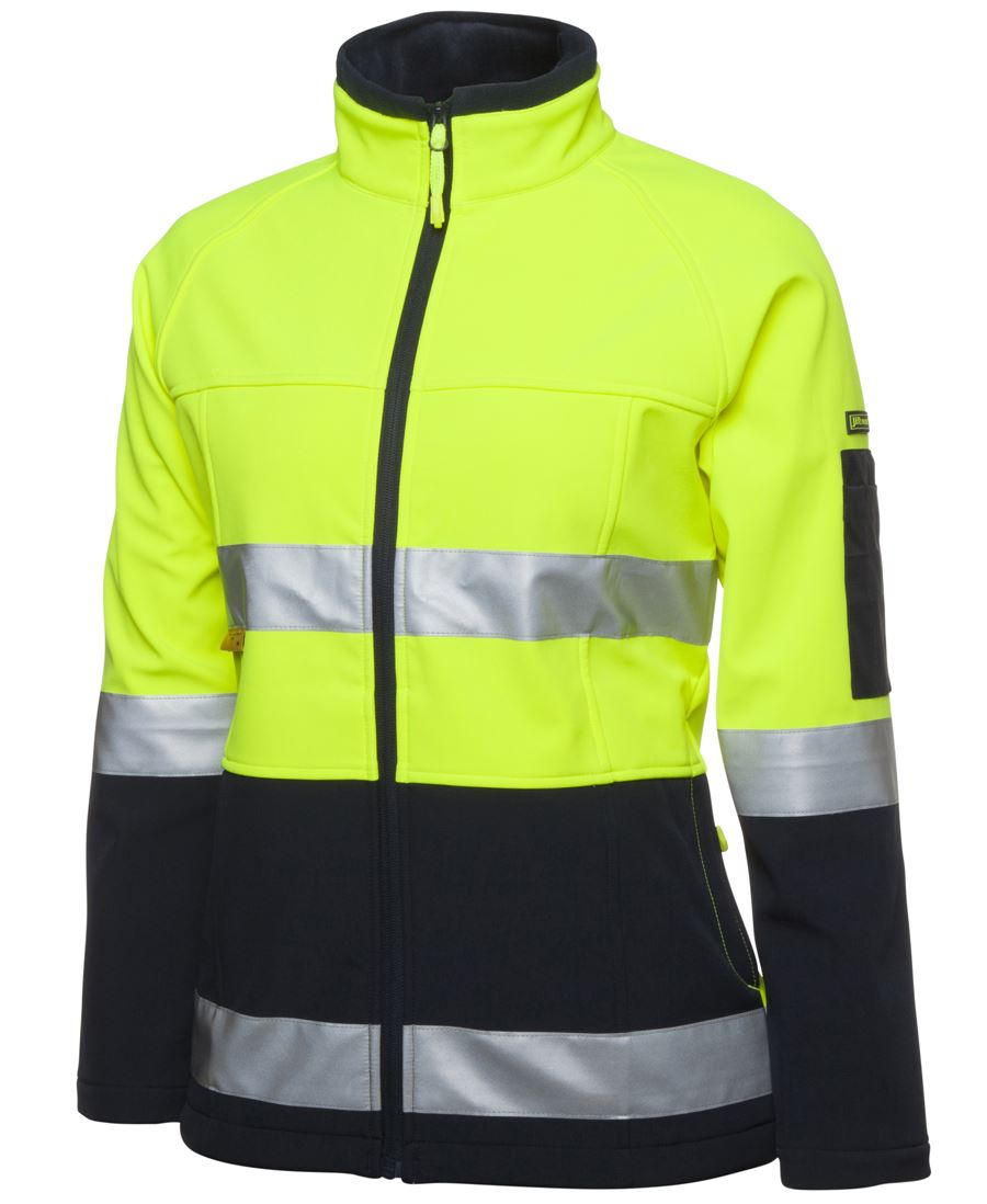 Ladies Hi Vis (D+N) Trade Softshell Jacket
