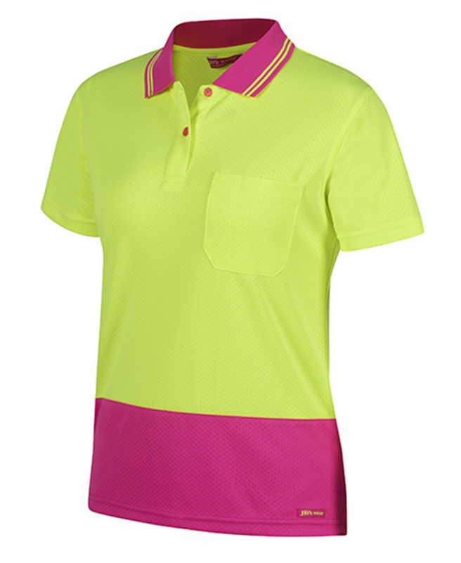 Hi Vis Ladies S/S Jacquard Polo