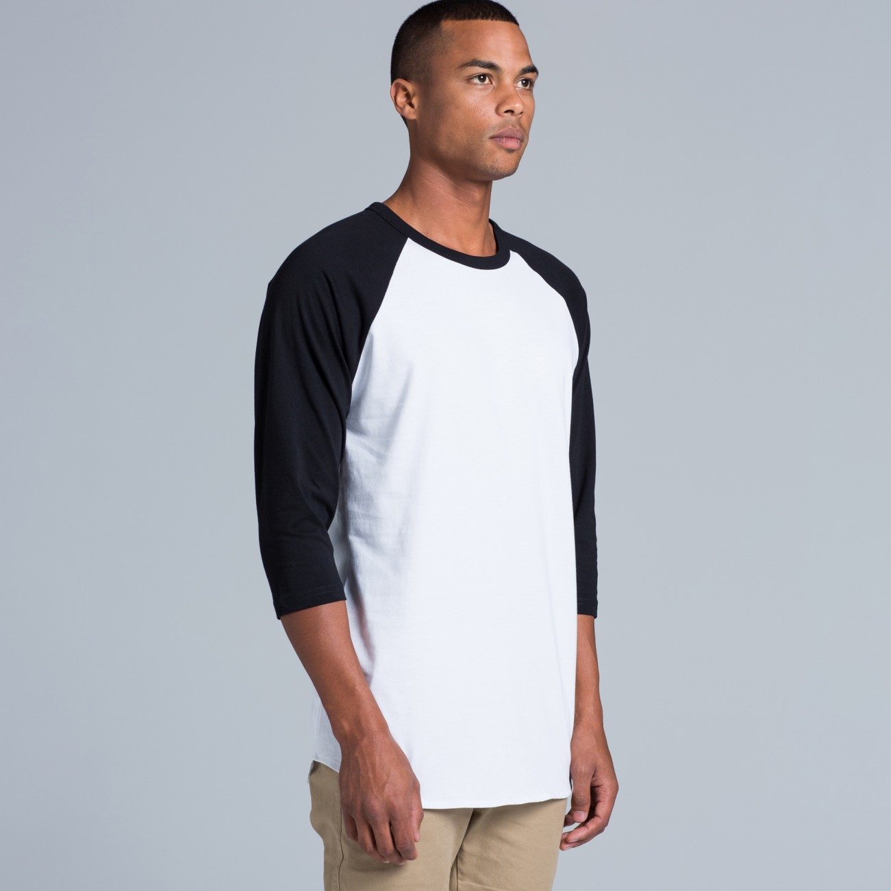 AS Colour 5012 Raglan Tee 3/4 sleeve print