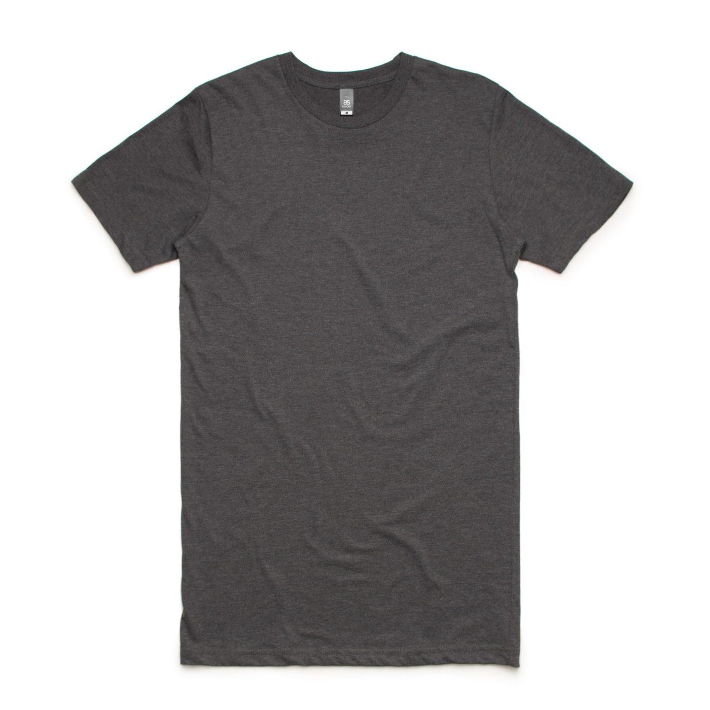 Asphalt Marl AS Colour AS5013 Tall Tee longer length tee great to print or embroider