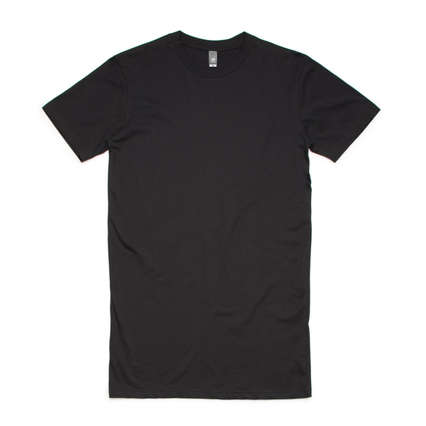 Black AS Colour AS5013 Tall Tee longer length tee great to print or embroider
