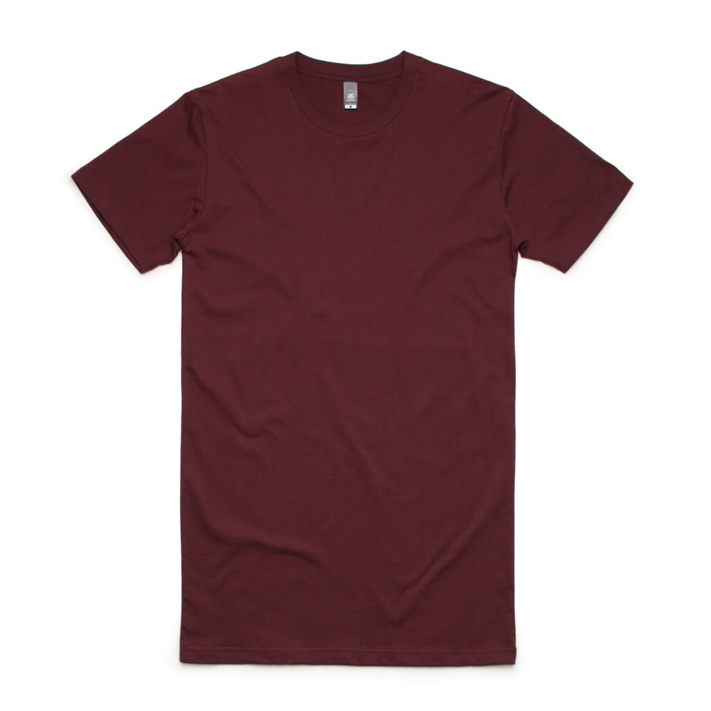Burgundy AS Colour AS5013 Tall Tee longer length tee great to print or embroider