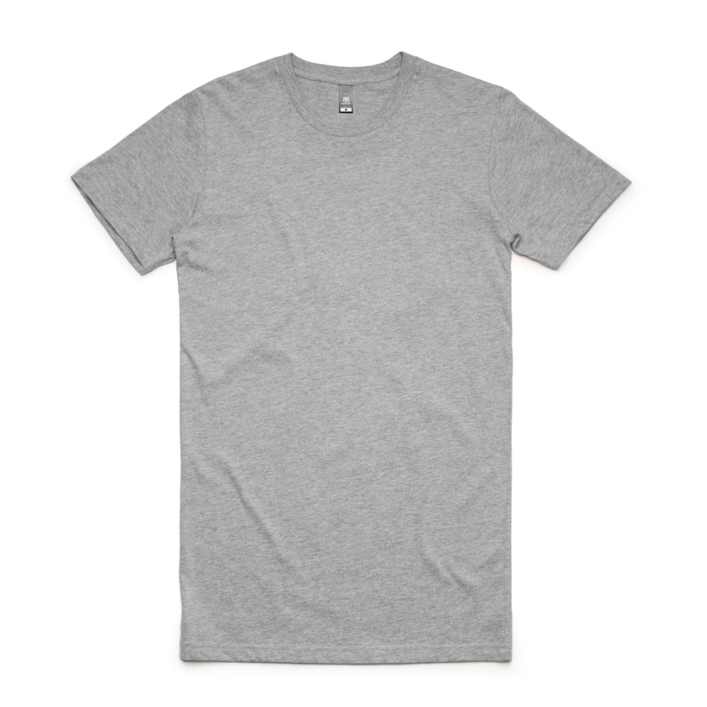 Grey Marl AS Colour AS5013 Tall Tee longer length tee great to print or embroider