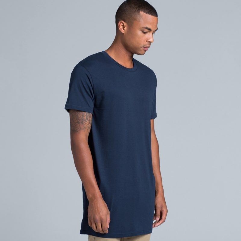 Navy AS Colour AS5013 Tall Tee longer length tee great to print or embroider