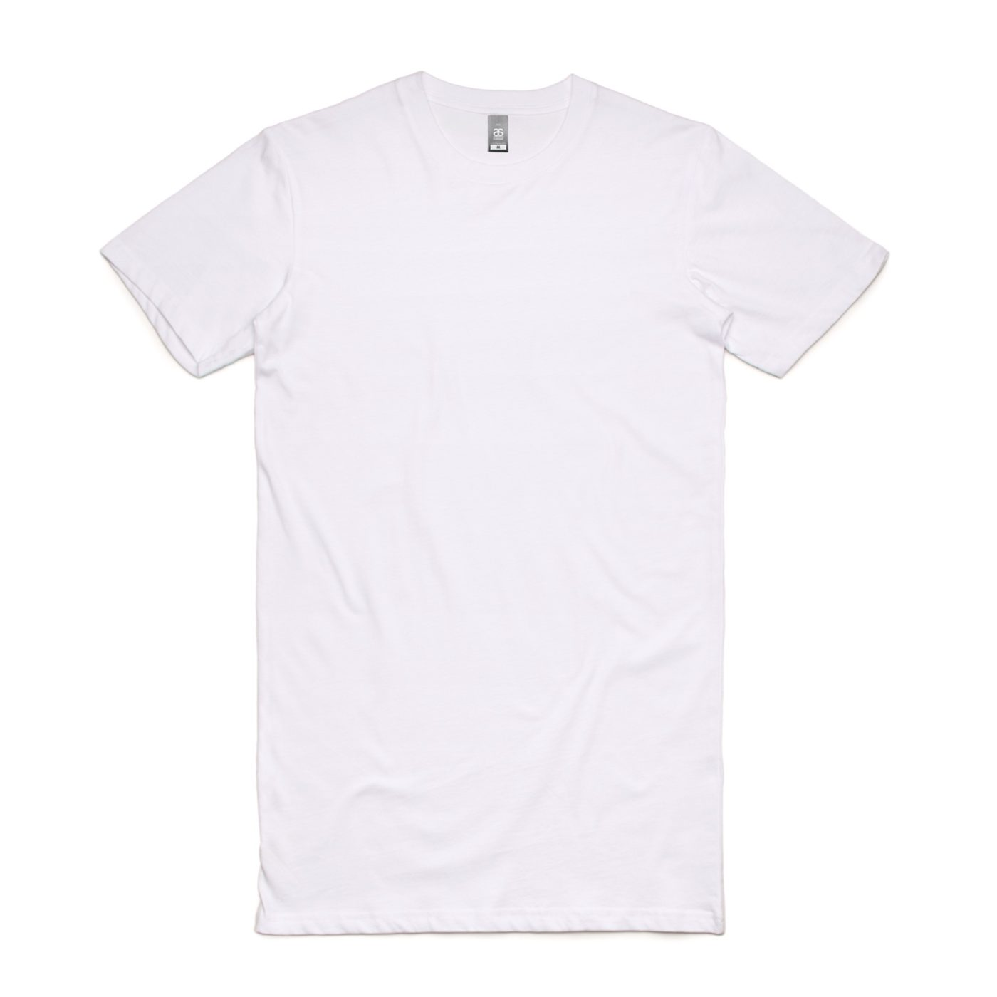 White AS Colour AS5013 Tall Tee longer length tee great to print or embroider