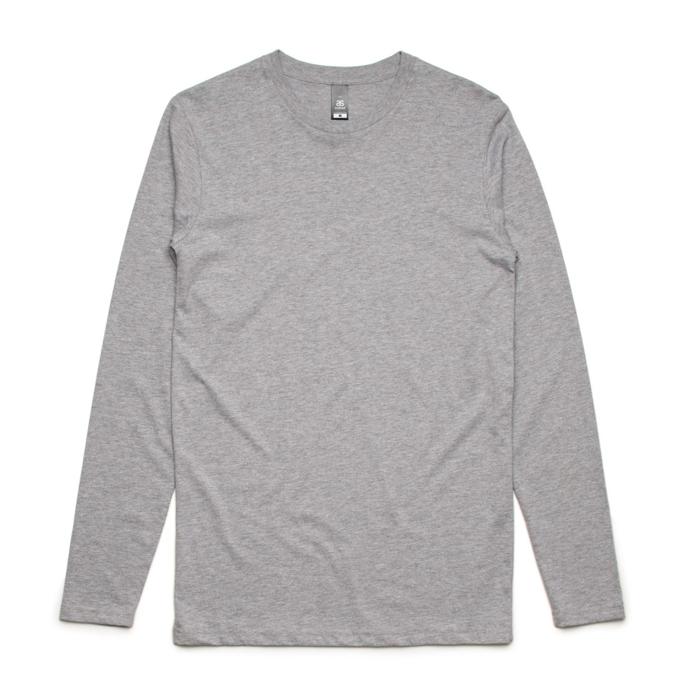 AS 5009 ink Long Sleeve tee print Grey Marle