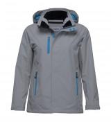 Nordic showerproof rain jacket Aluminium Cyber Blue