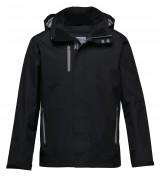 Nordic showerproof rain jacket Black Aluminium