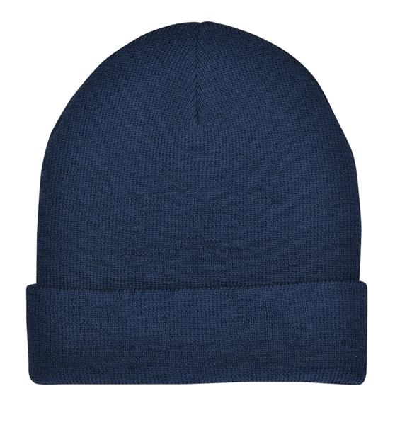 Promo 4637 wool turnup beanie Navy