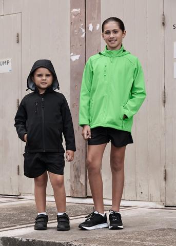 Kids Olympus 3513 Softshell jacket hood warm child