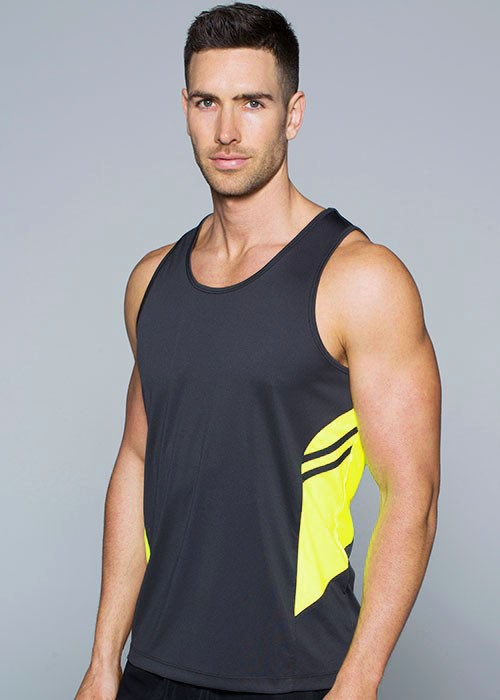 Tasman mens Singlet great for touch and sport